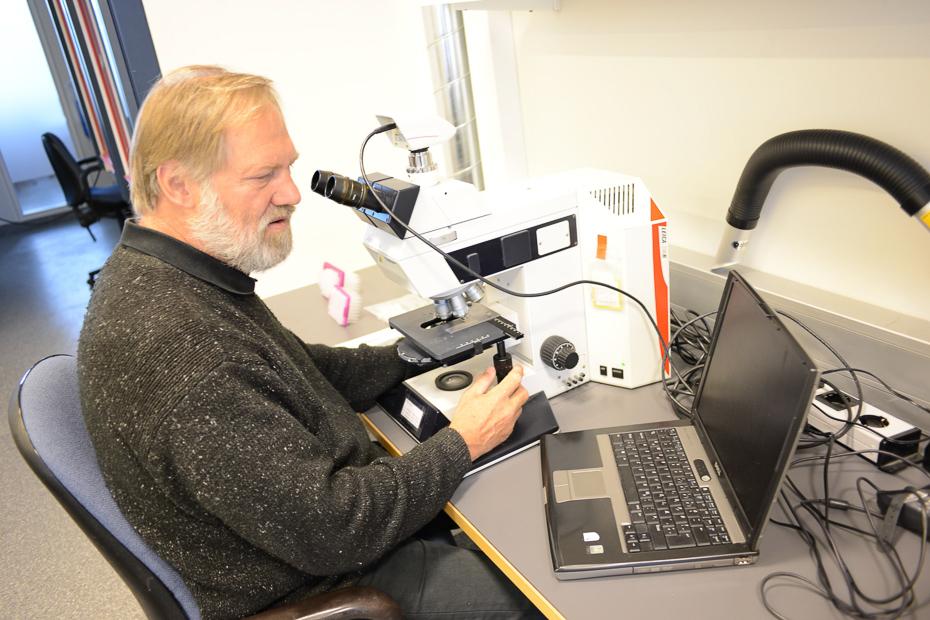 Karl Gunnarsson, marine biologist at work, Iceland.